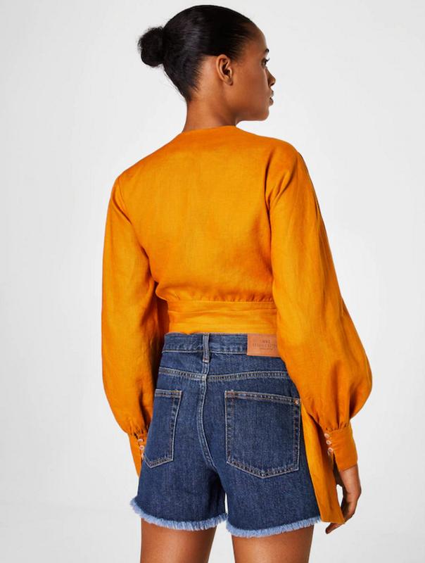 Джинсовые шорты mango свободного кроя - Фото 6