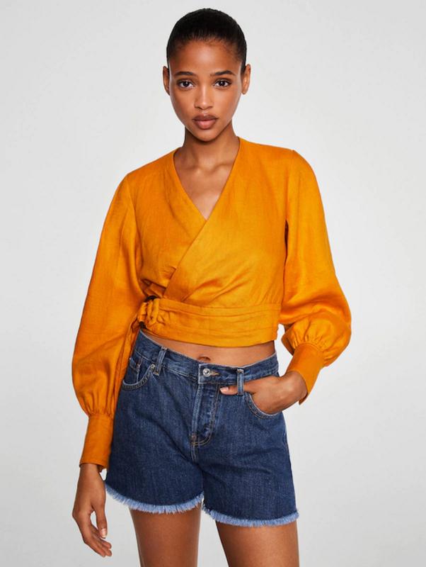 Джинсовые шорты mango свободного кроя - Фото 8