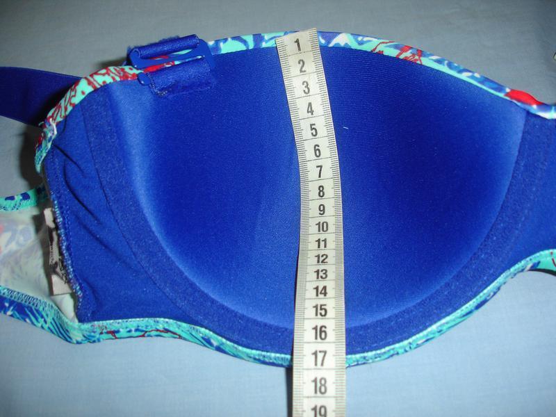 Купальник синий раздельный размер 48 / 14 чашка 85 в с шикарны... - Фото 2