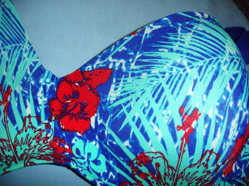 Купальник синий раздельный размер 48 / 14 чашка 85 в с шикарны... - Фото 5