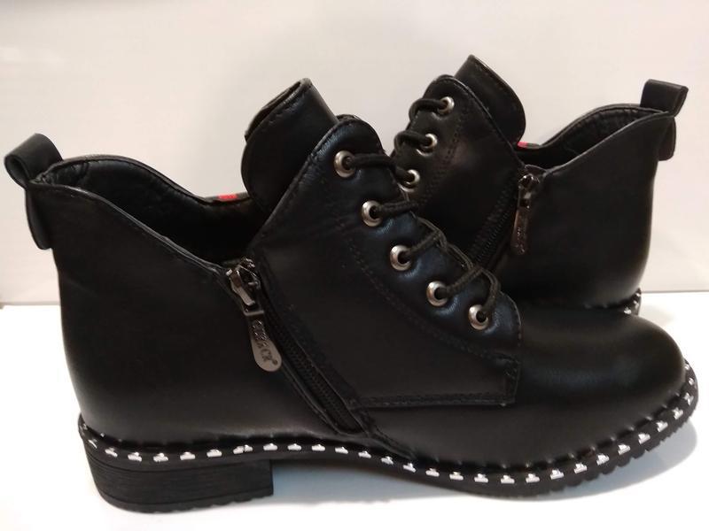 Ботинки демисезонные женские на низком ходу - Фото 3