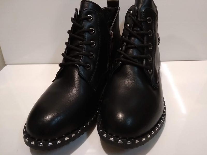 Ботинки демисезонные женские на низком ходу - Фото 4