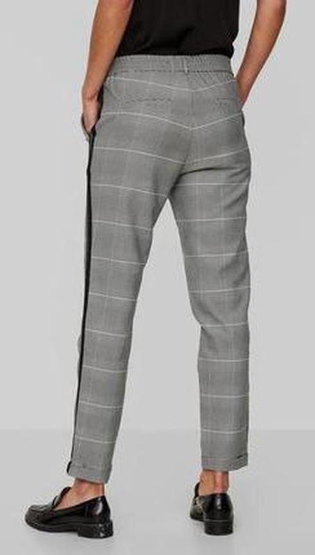 Шикарные трендовые стильные модные меланжевые брюки в клетку с... - Фото 2