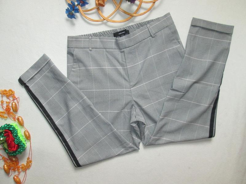 Шикарные трендовые стильные модные меланжевые брюки в клетку с... - Фото 4