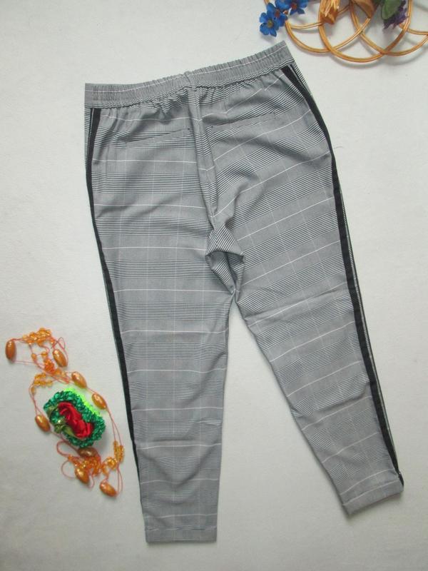 Шикарные трендовые стильные модные меланжевые брюки в клетку с... - Фото 5