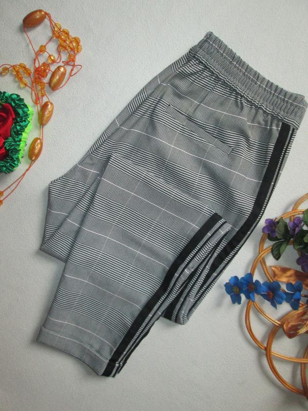 Шикарные трендовые стильные модные меланжевые брюки в клетку с... - Фото 8