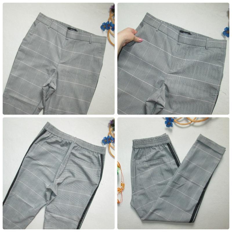 Шикарные трендовые стильные модные меланжевые брюки в клетку с... - Фото 9