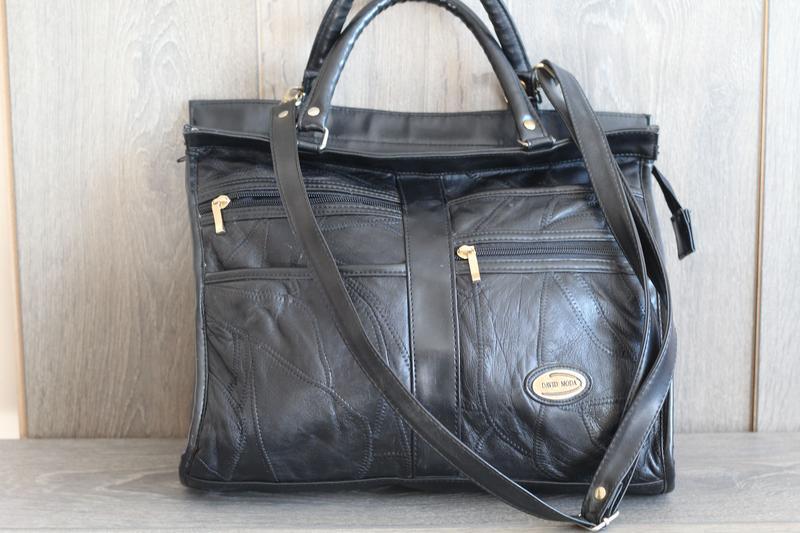 Шикарная кожаная сумка david moda