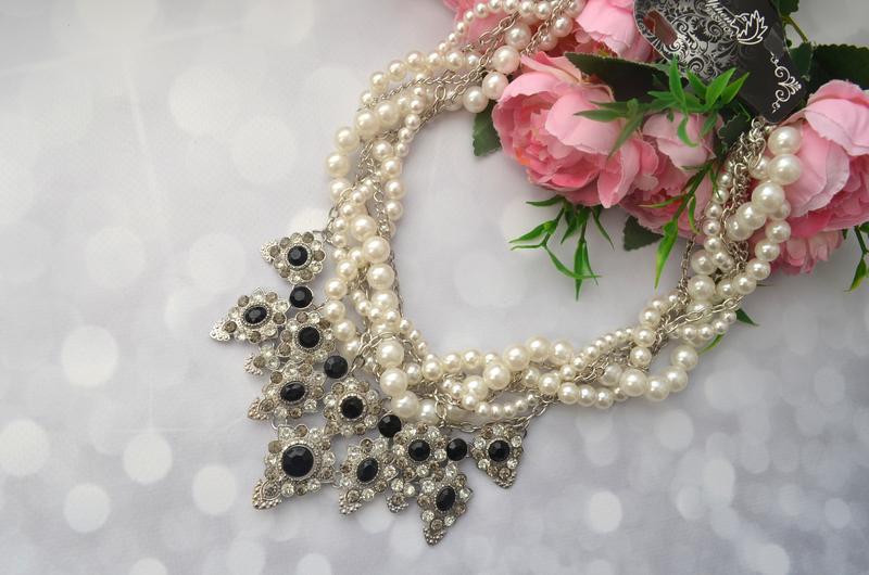 Массивное жемчужное ожерелье zara - Фото 3