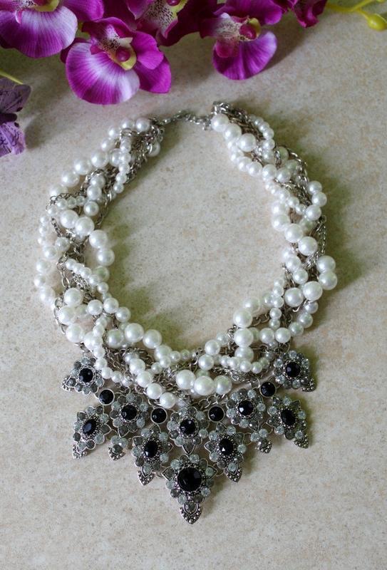 Массивное жемчужное ожерелье zara - Фото 5