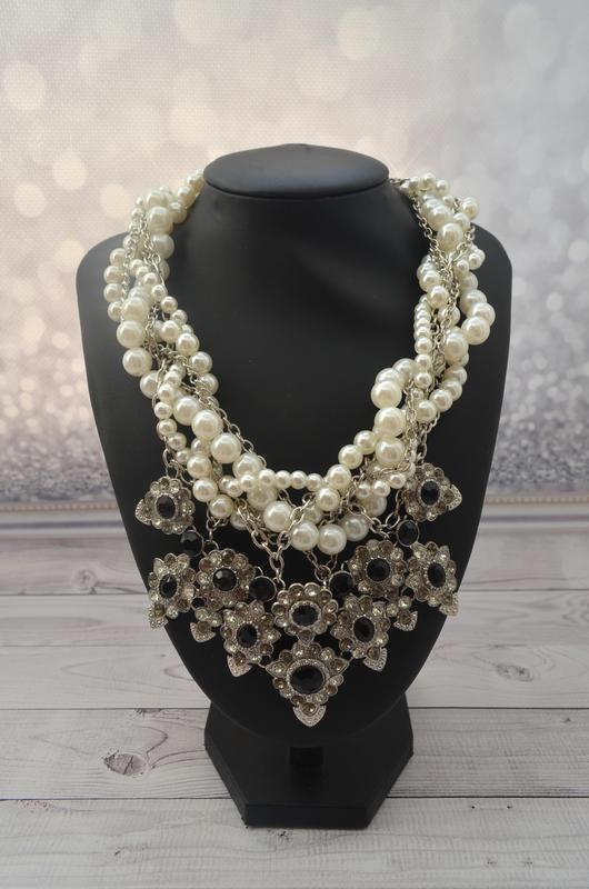 Массивное жемчужное ожерелье zara - Фото 6