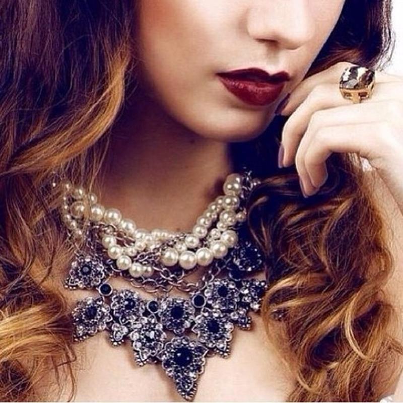 Массивное жемчужное ожерелье zara - Фото 7