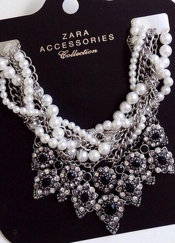 Массивное жемчужное ожерелье zara - Фото 8