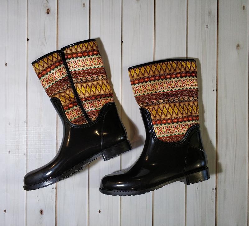 Женские резиновые утепленные сапоги,полусапоги,ботинки - Фото 3