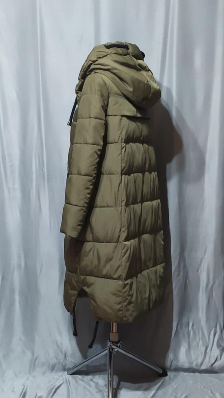 Длинный пуховик , зимнее пальто - Фото 2