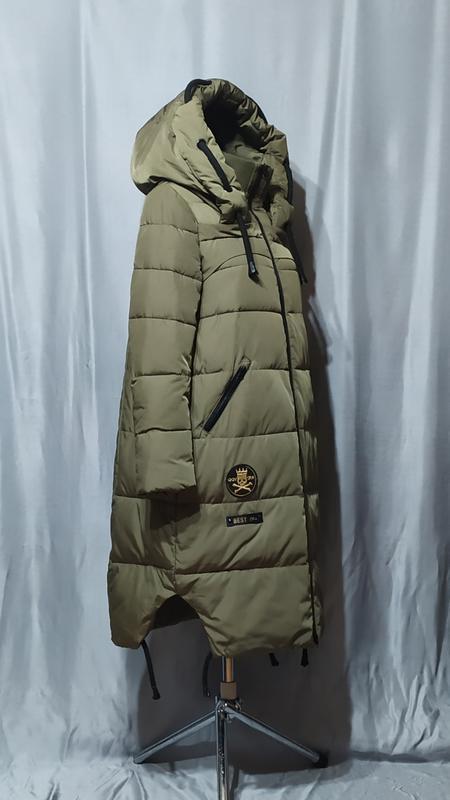 Длинный пуховик , зимнее пальто - Фото 3
