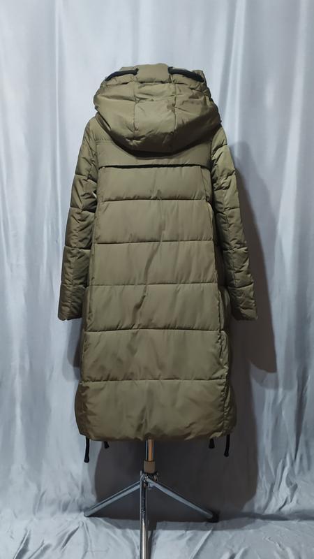 Длинный пуховик , зимнее пальто - Фото 4