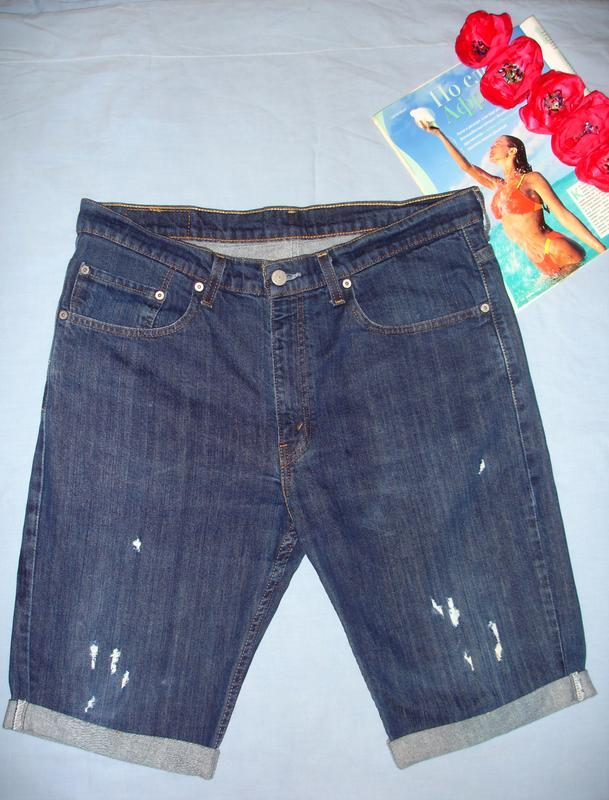 Мужские шорты джинсовые размер w36 w 36 размер 50-52 короткие ...