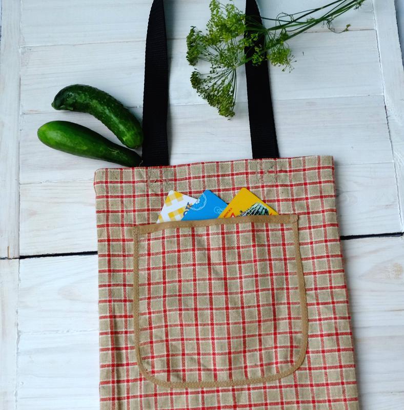 Сумка для покупок, эко сумка, торба, пляжная сумка, сумка шопп... - Фото 2