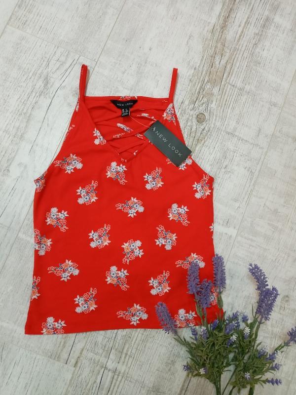 Яркий женский топ в цветочный принт new look - Фото 2