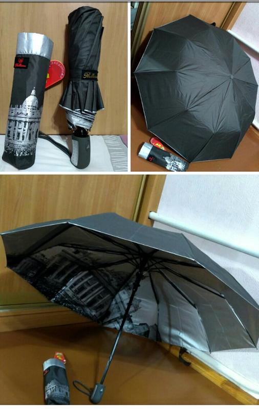 Зонт полуавтомат антиветер.