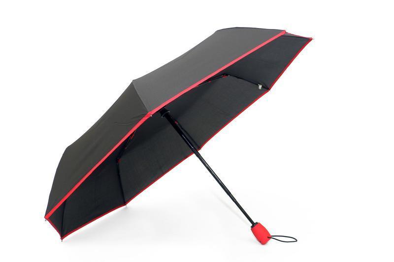 """Зонт автомат с красной каймой от фирмы """"sl""""."""