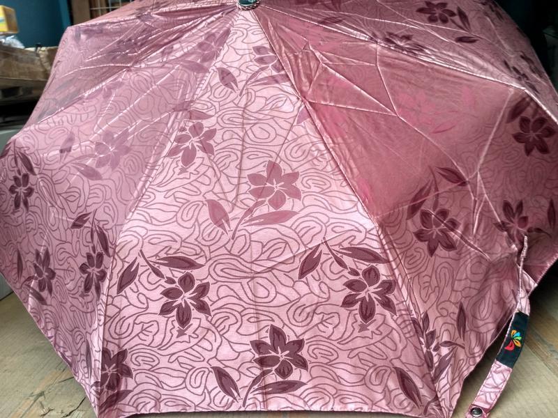 Зонт автомат шелкография бордовый антиветер. - Фото 3