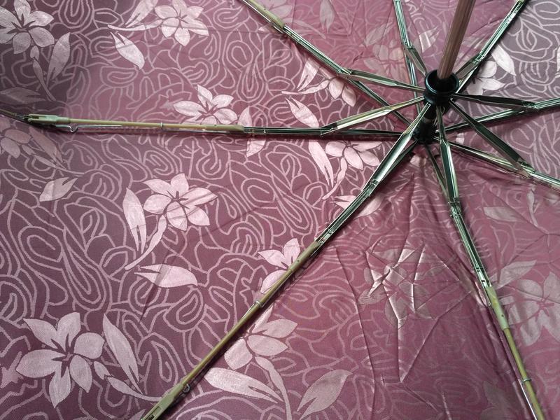 Зонт автомат шелкография бордовый антиветер. - Фото 4