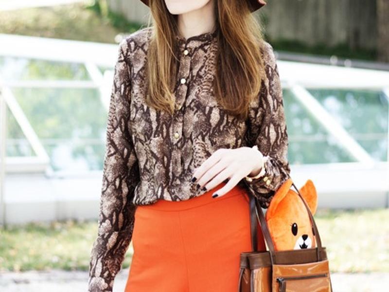 Блуза рубашка h&m в змеиный принт блузка с животным принтом зм...