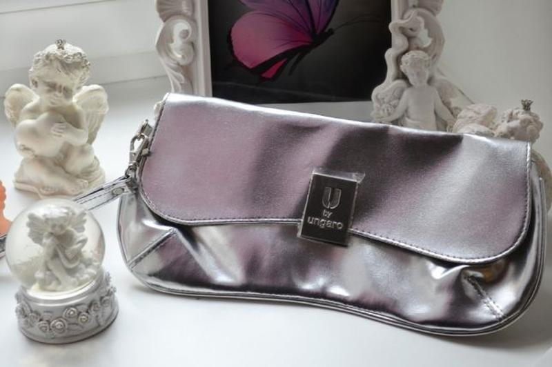 Серебряный сумка клатч u by ungaro avon серебро серебристый ме...