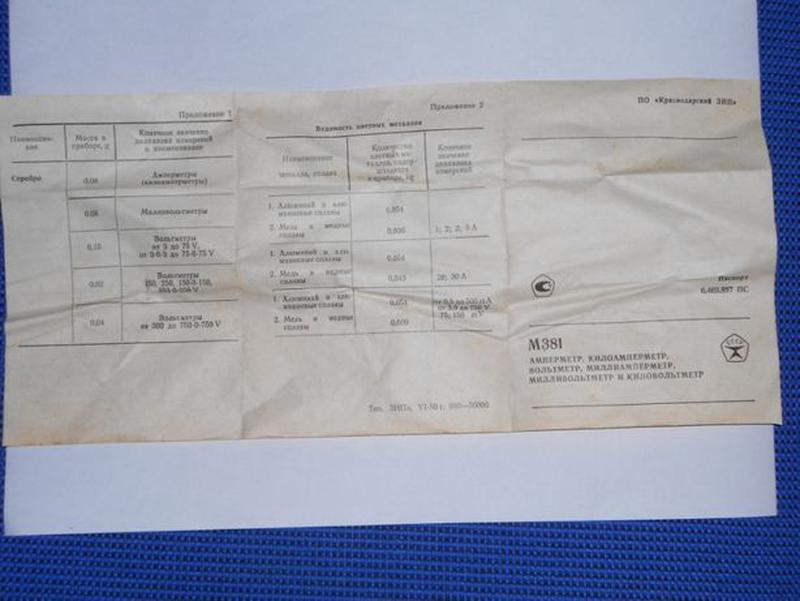 Продам новый (СССР) вольтметр М381. Диапазон измерений 0 – 500 В. - Фото 4