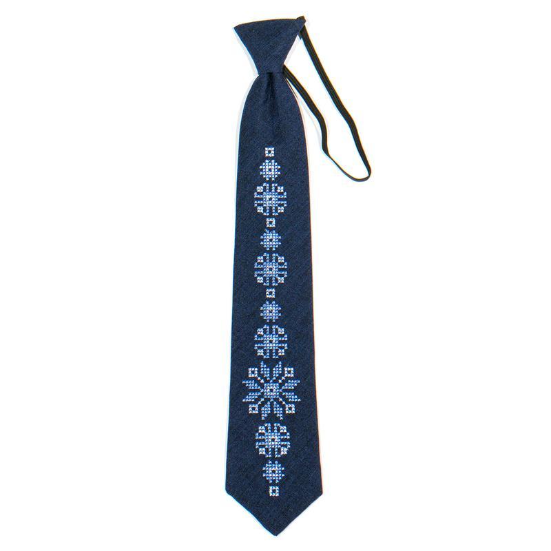 Підліткова вишита краватка №785 - Фото 2