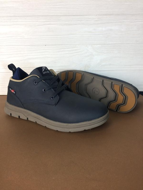 Теплые мужские зимние кожаные ботинки кеды sayota! распродажа ... - Фото 3