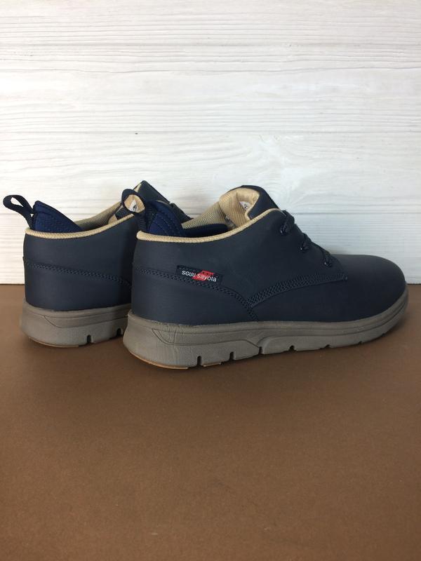 Теплые мужские зимние кожаные ботинки кеды sayota! распродажа ... - Фото 4
