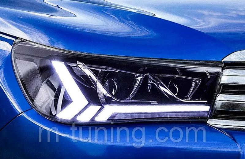 Передние фары LED оптика Toyota Hilux Revo (2015+) ксенон