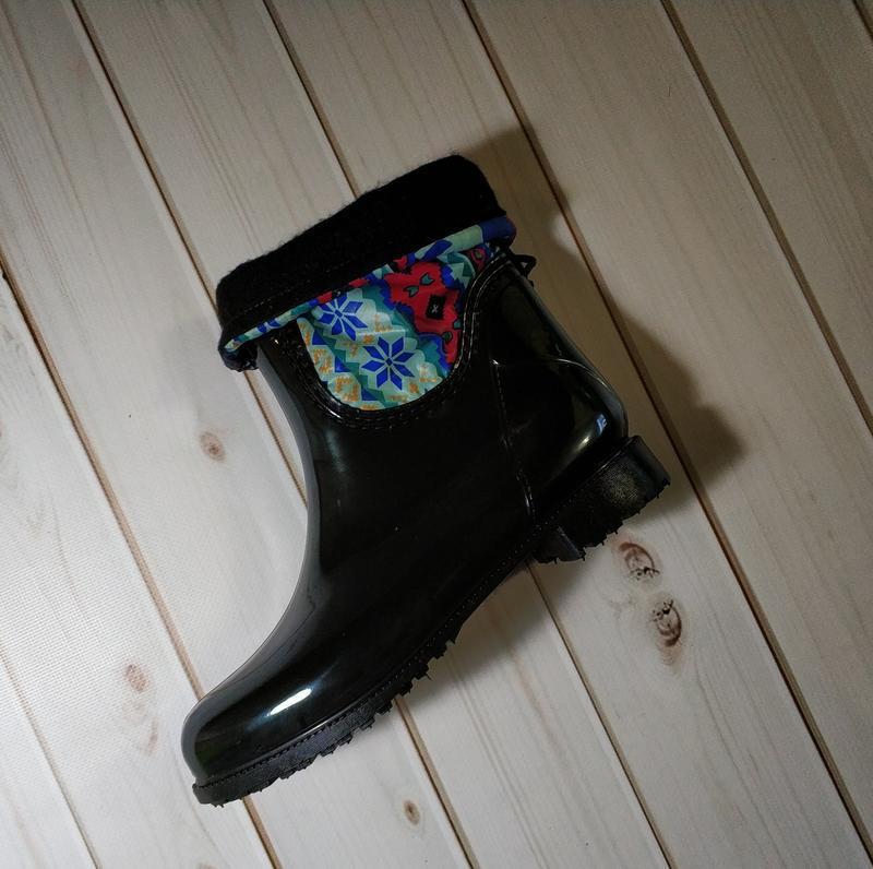 Женские резиновые утепленные сапоги,полусапоги,ботинки,для дев... - Фото 2