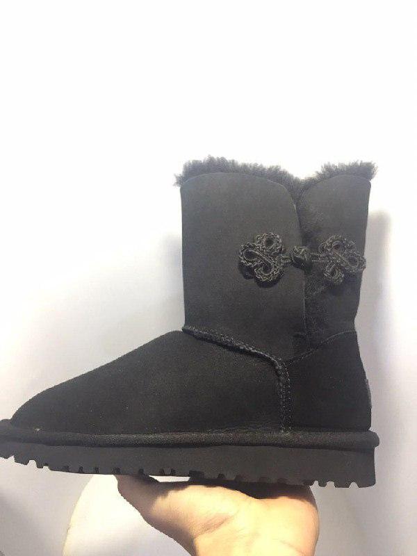 "Женские угги ugg bailey mariko boot ""black"" - Фото 2"