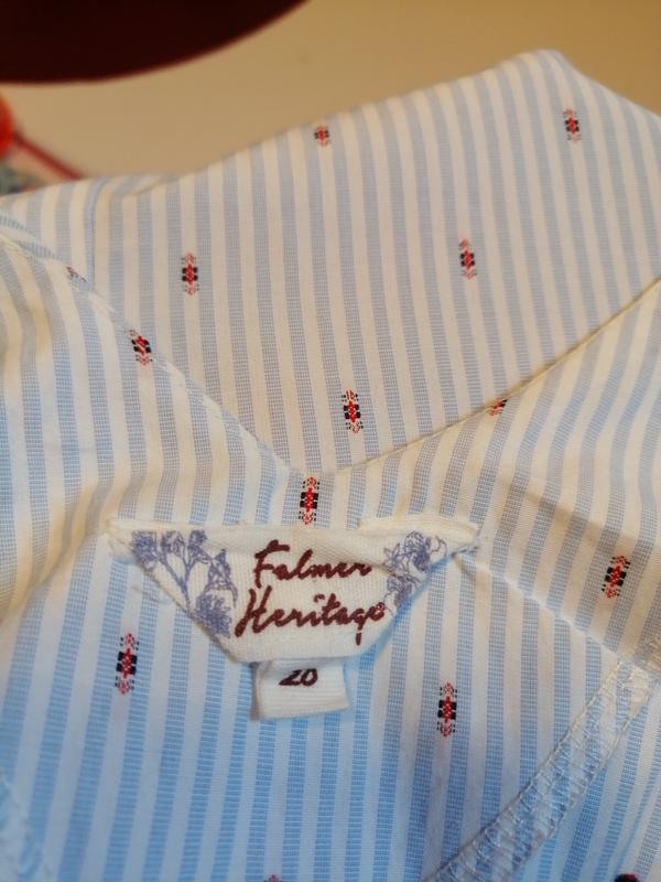 Модная блуза falmer heritage, хлопок, размер 20 - Фото 9