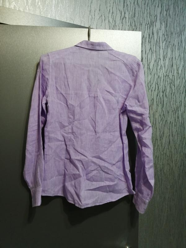 Рубашка из чистого льна - Фото 3