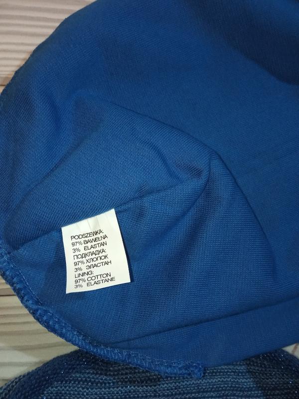 Вязаная шапка  и хомут agbo (польша)для детей с люрексной нитью - Фото 2