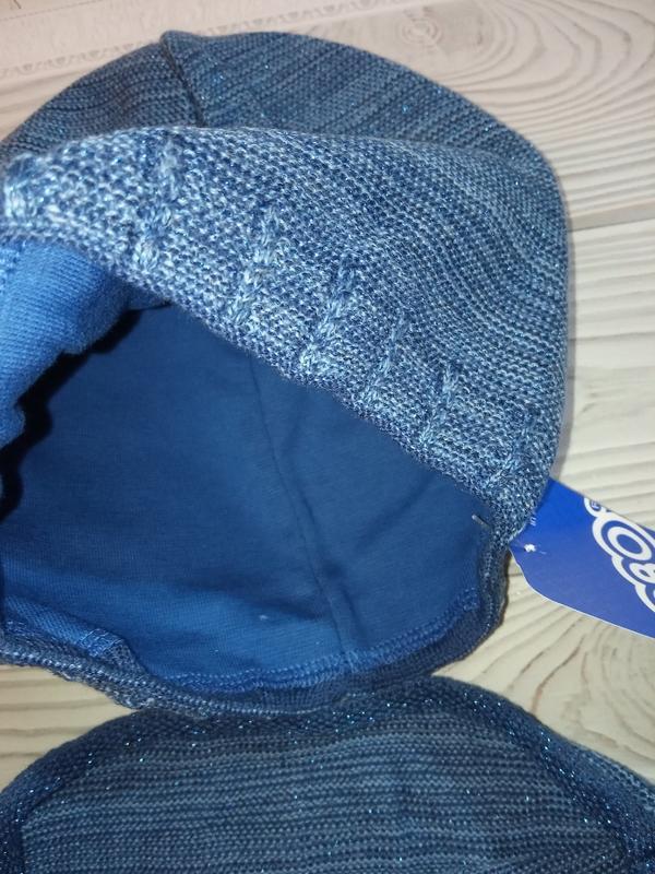 Вязаная шапка  и хомут agbo (польша)для детей с люрексной нитью - Фото 3
