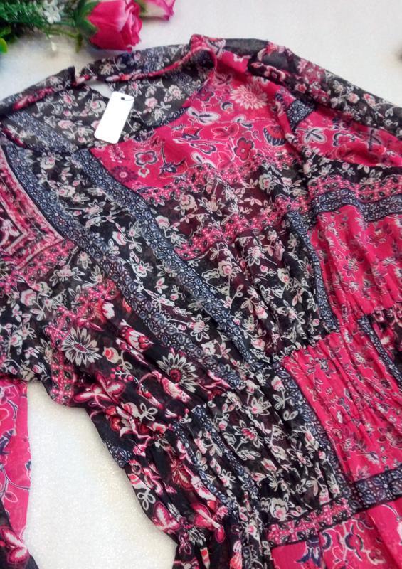 Красивое шифоновое пляжное платье туника на купальник от George U - Фото 5