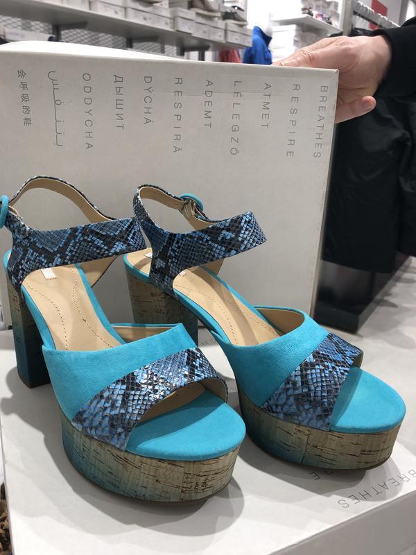 Новые босоножки на каблуке и платформе  geox дизайнерская линия - Фото 3