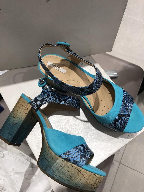 Новые босоножки на каблуке и платформе  geox дизайнерская линия - Фото 4