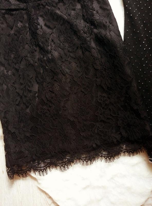 Черное ажурное мини короткое платье с гипюром в бельевом стиле... - Фото 5