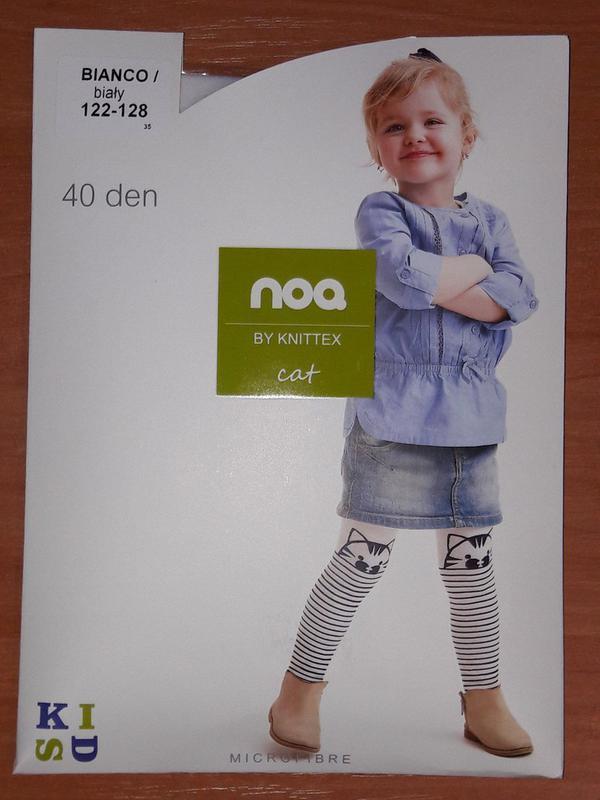 """Детские колготки тм noq cat для девочек микрофибра с узором """"к... - Фото 2"""