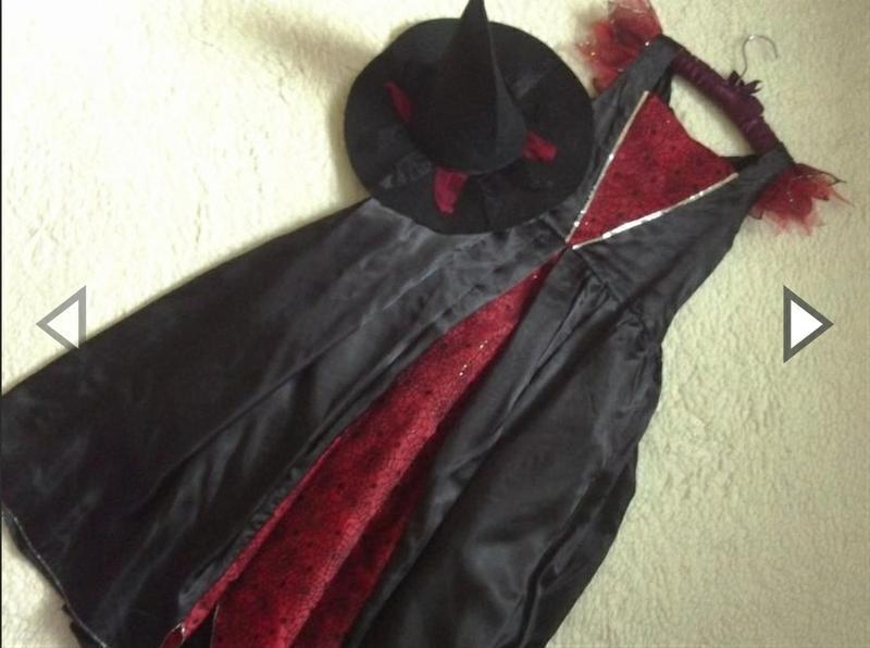 Платье костюм для костюмированной вечеринки черное ведьмы