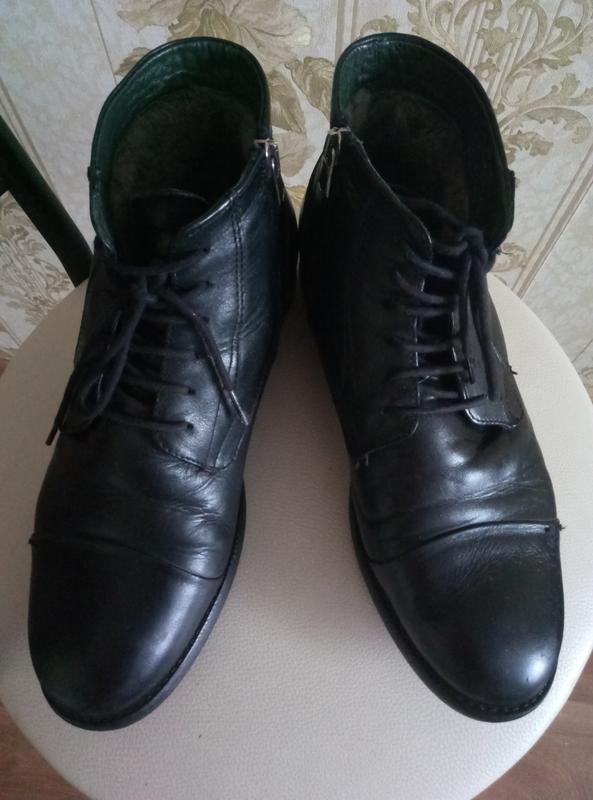 Торг !!!теплые зимние сапоги - ботинки кожа - Фото 2