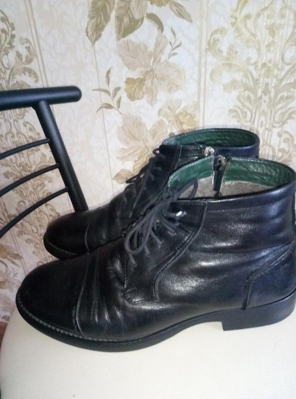 Торг !!!теплые зимние сапоги - ботинки кожа