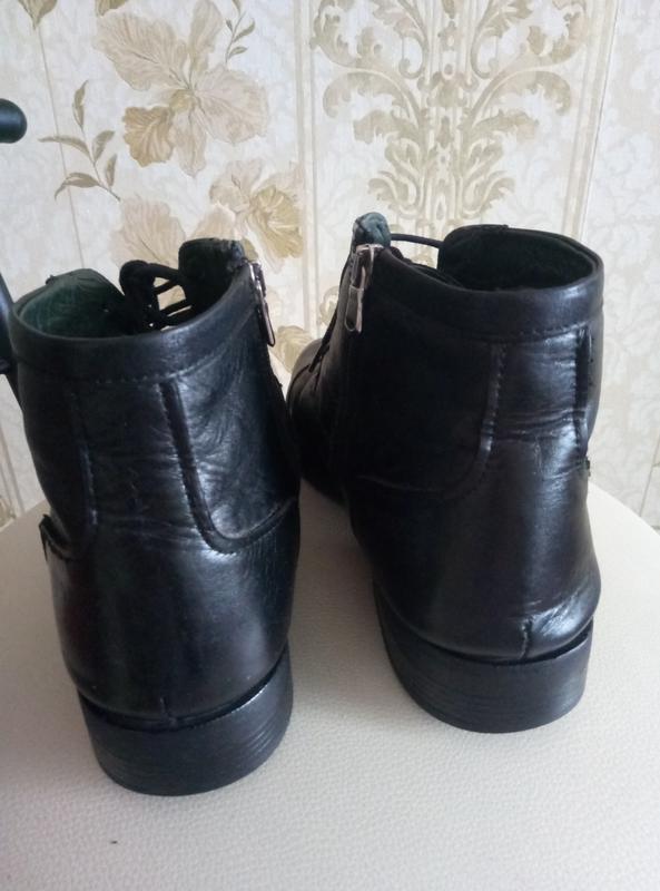 Торг !!!теплые зимние сапоги - ботинки кожа - Фото 3